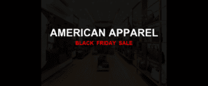 American Apparel [GJ_EVENT_WITH_YEAR] Ad, Sales [10+ Deals]