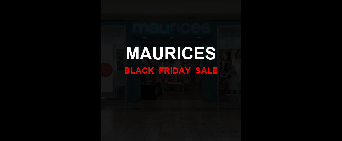 Maurices Black Friday 2020 Ad, Sales [20+ Deals]